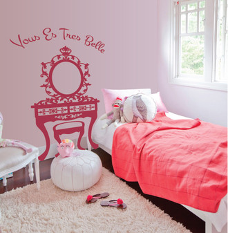 Girl's Room Vanity Wall Decal