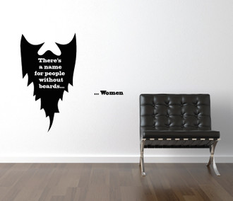 People Without Beards Quote Wall Decal