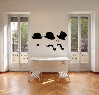 Charlie Chaplin Steampunk Wall Decal