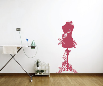 Sewing Bust Laundry room Wall Decal