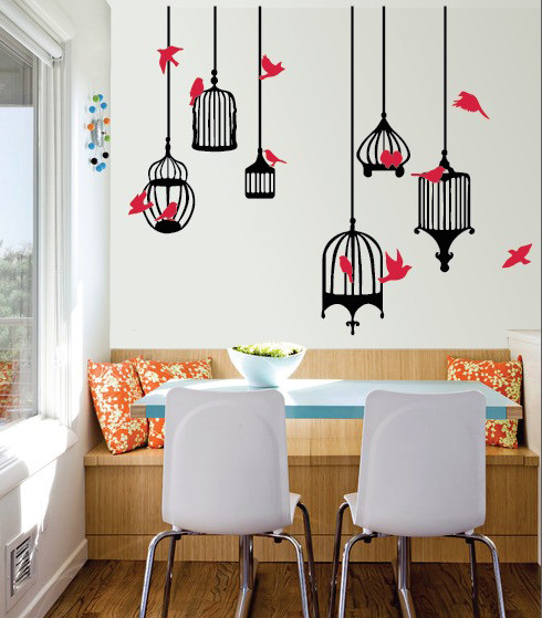 Urban wall decals decal guru bird cages galore wall decal gumiabroncs Images