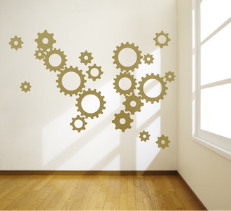 Clock Gears Wall Decal