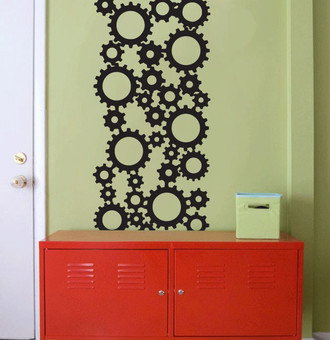 Industrial Gears Wall Decal