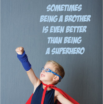 Super Hero Quote Wall Decal