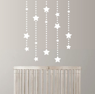 Star Dangles Wall Decal