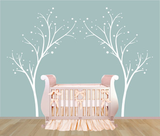 Star Trees Wall Decal