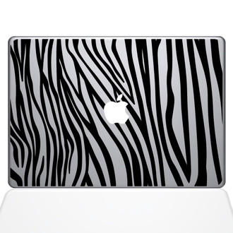 Zebra Stripes Macbook Decal Sticker Black