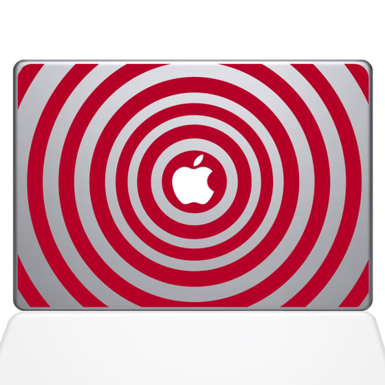 Music Waves Macbook Decal Sticker Red