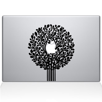 Tree of Life Topiary Macbook Decal Sticker Black