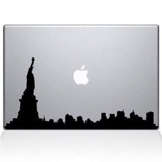 New City skyline NY Macbook Decal Sticker Black