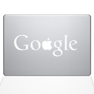 Google Macbook Decal Sticker white