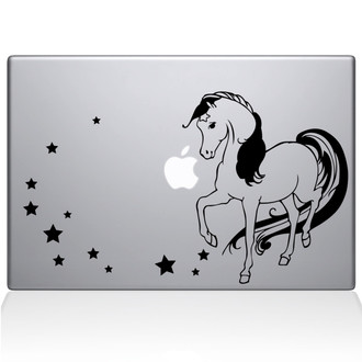 Rainbow Bright Horse Macbook Decal Sticker Black