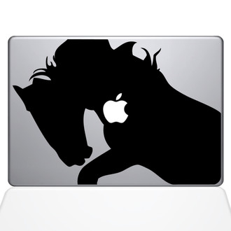 War Horse Macbook Decal Sticker Black