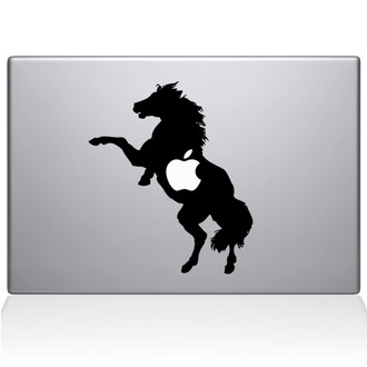 Bucking Horse Macbook Decal Sticker Black