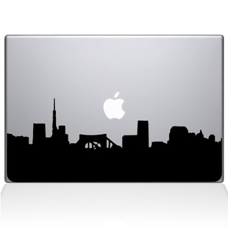 Pittsburg City Skyline Macbook Decal Sticker Black