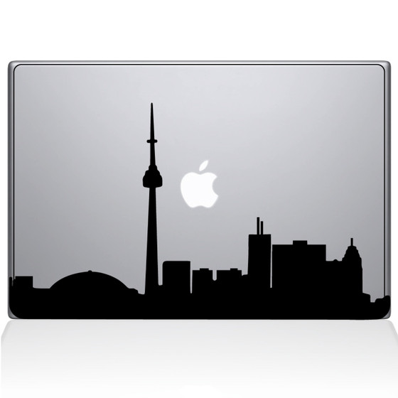 Toronto Cityscape Macbook Decal Sticker Black