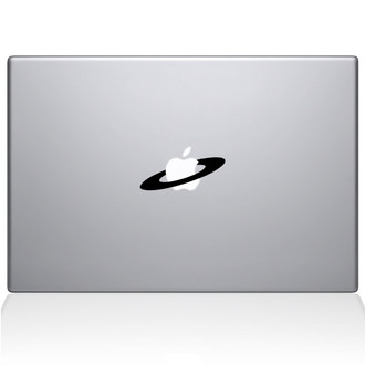 Saturn's Rings Macbook Decal Sticker Black