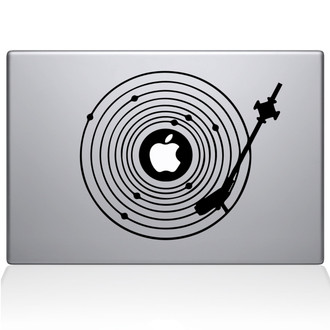 Vinyl Record Universe Macbook Decal Sticker Black