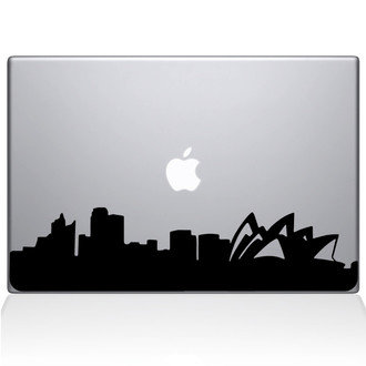 Sydney City Skyline Macbook Decal Sticker Black