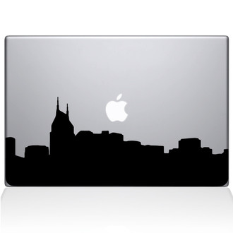 Nashville City Skyline Macbook Decal Sticker Black