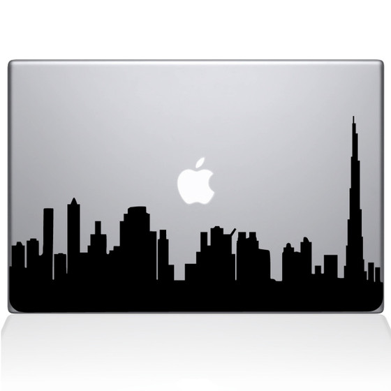 Dubai City Skyline Macbook Decal Sticker Black