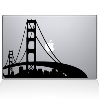 San Francisco City Skyline Macbook Decal Sticker Black