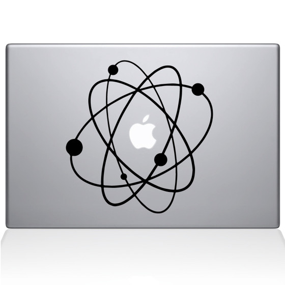 Atom 2 Macbook Decal Sticker Black