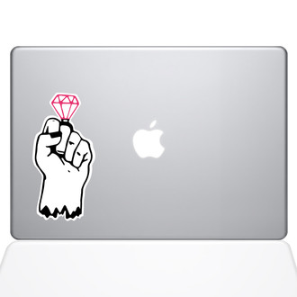 Zombie Ring Pop Macbook Decal Sticker Silver