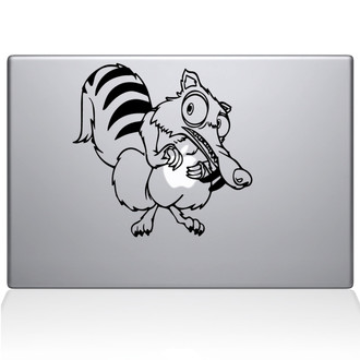 Scrat Ice Age Macbook Decal Sticker Black