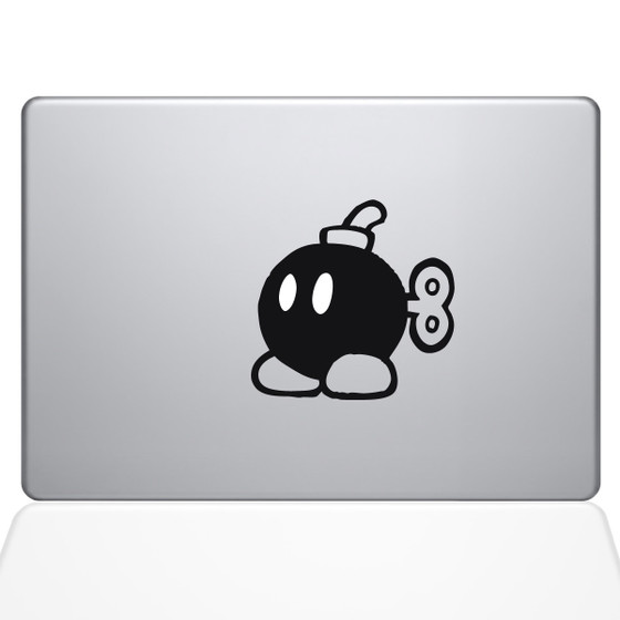 Mario Bomber Macbook Decal Sticker Black