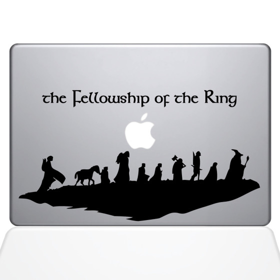 Fellowship of the Ring Macbook Decal Sticker Black