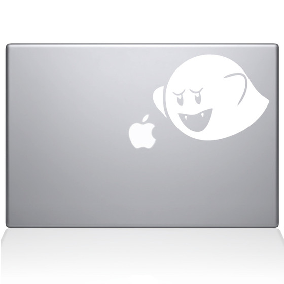 Mario Brothers Ghost Boo Macbook Decal Sticker
