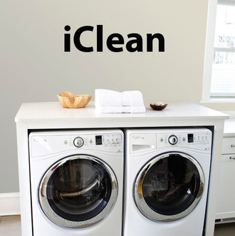 iClean Laundry Wall Decal