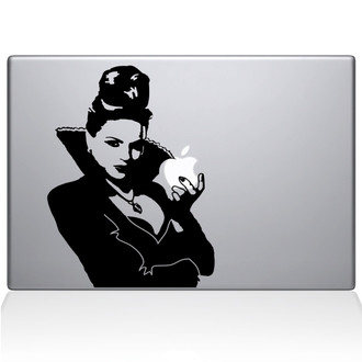 Once Evil Queen Macbook Decal Sticker Black
