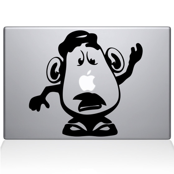 Mr. Potato Head Macbook Decal Sticker Black