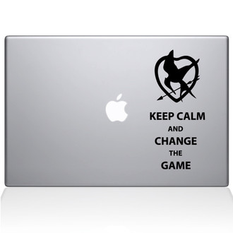 Keep Calm and Change the Game Macbook Decal Sticker Black