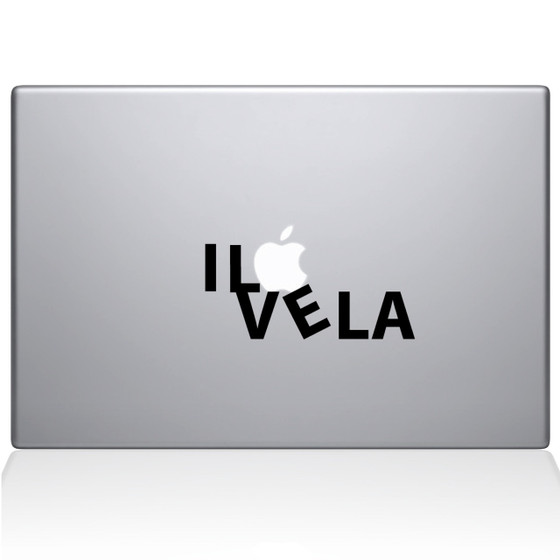 I Love LA Macbook Decal Sticker Black