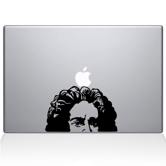 Newtons apple macbook decal sticker black