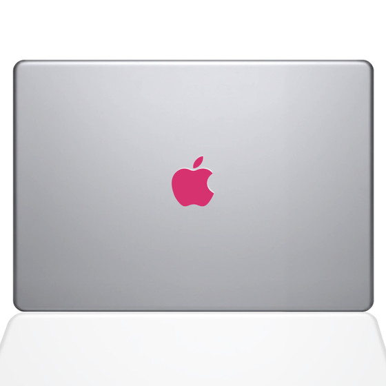 Pink apple logo macbook decal sticker