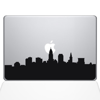 Cleveland OH City Skyline Sticker Black