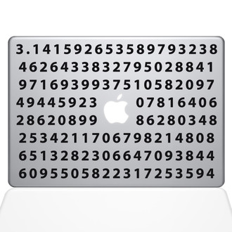 Pi Macbook Decal Sticker Black