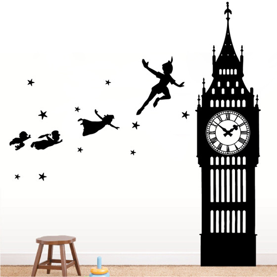 Peter Pan Big Ben Wall Decal - The Decal Guru