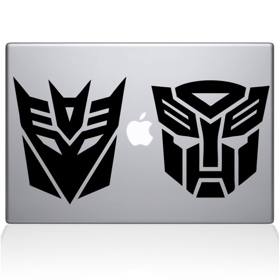 Transformers Macbook Decal Sticker Black