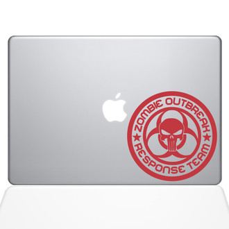 Zombie Response Team Macbook Decal Sticker Red