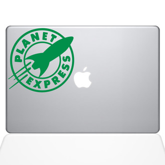 Planet Express Macbook Decal Sticker Green