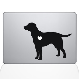 I Love My Labrador Retriever Macbook Decal Sticker Black