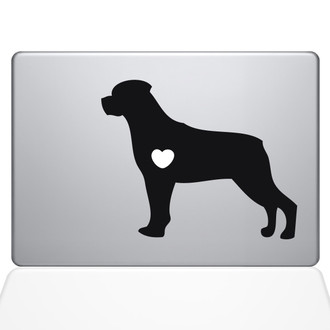 I Love My Rotweiler Macbook Decal Sticker Black