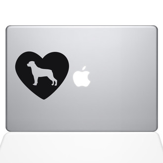 Heart Rotweiler Macbook Decal Sticker Black