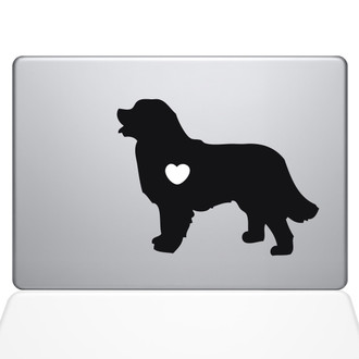 I Love My Bernese Mountain Dog Macbook Decal Sticker Black