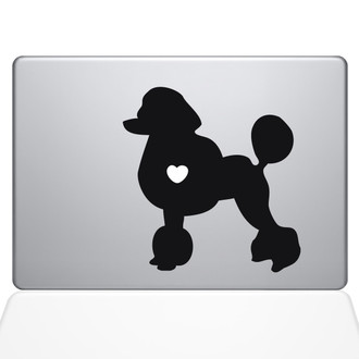 I Love My Poodle Macbook Decal Sticker Black